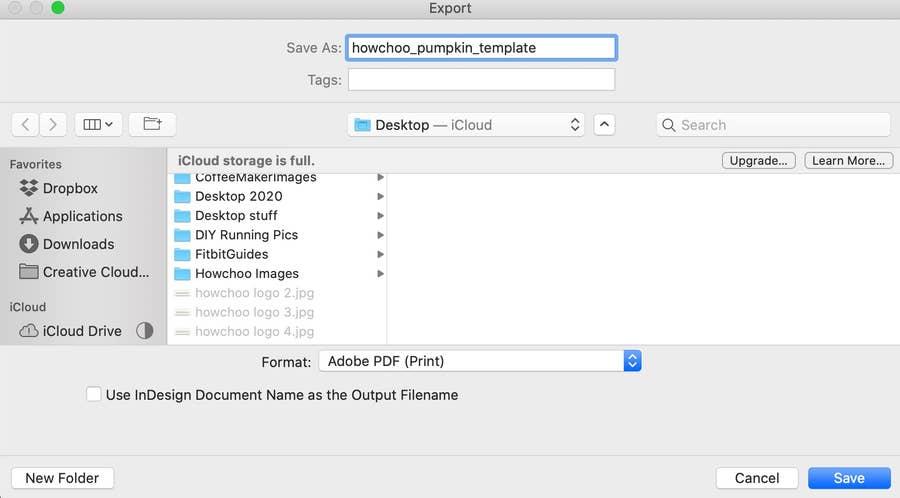 Save as PDF Pumpkin Stencil