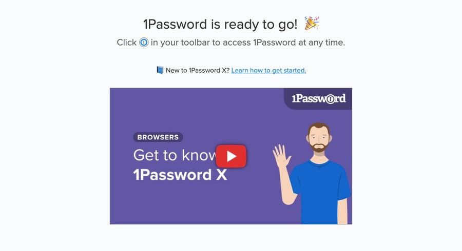 1Password ready on Chrome