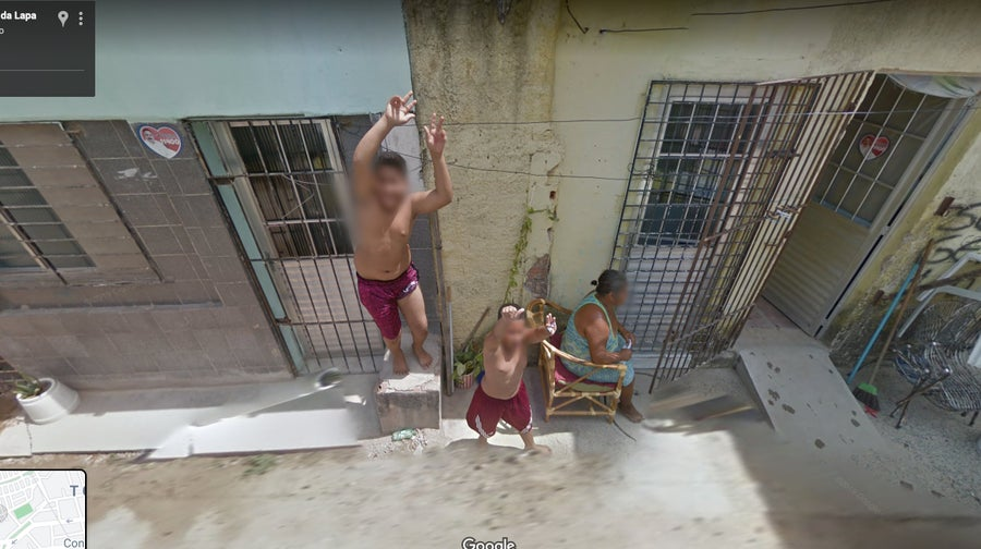 happy kids google street view
