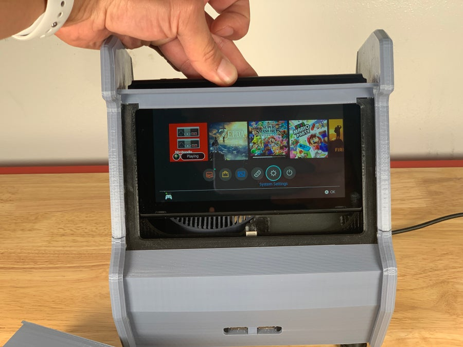 Nintendo Switch arcade cabinet insertion