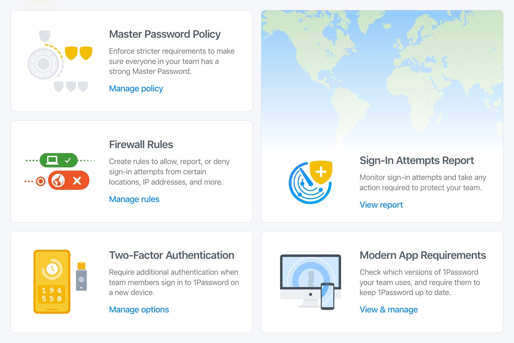 Advanced Protection Dashboard 1Password