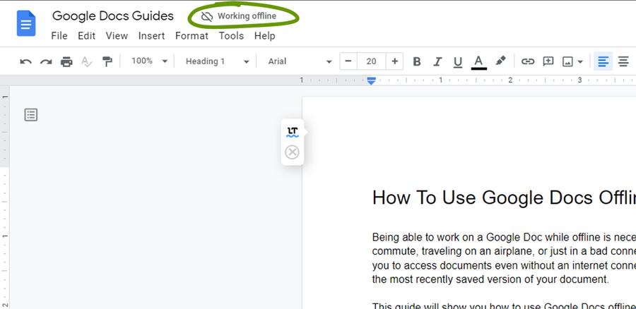 offline mode google docs drive