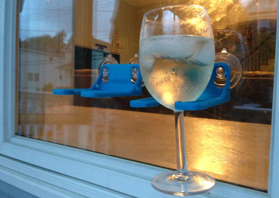 3D printed wine glass holder