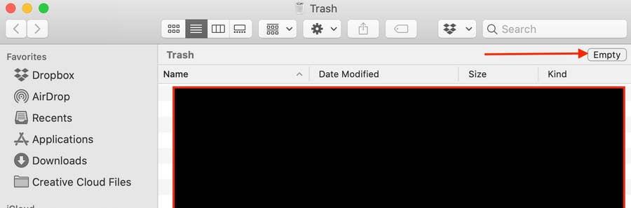 Empty Trash macOS