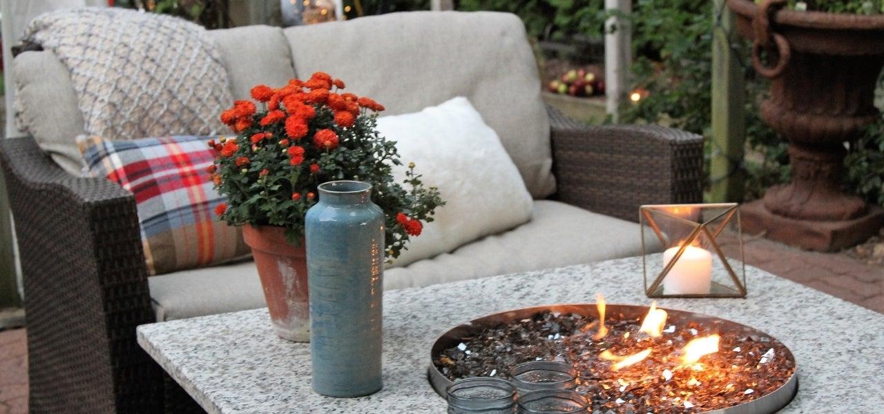 waterproof cushions near fire