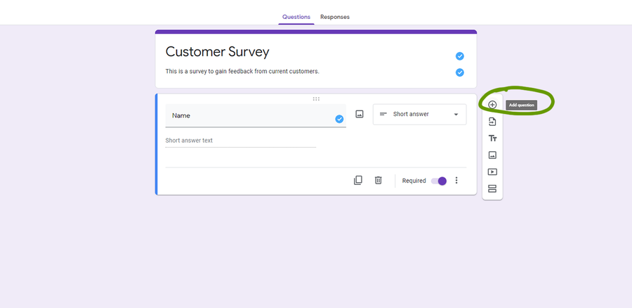 create a survey google forms add new question