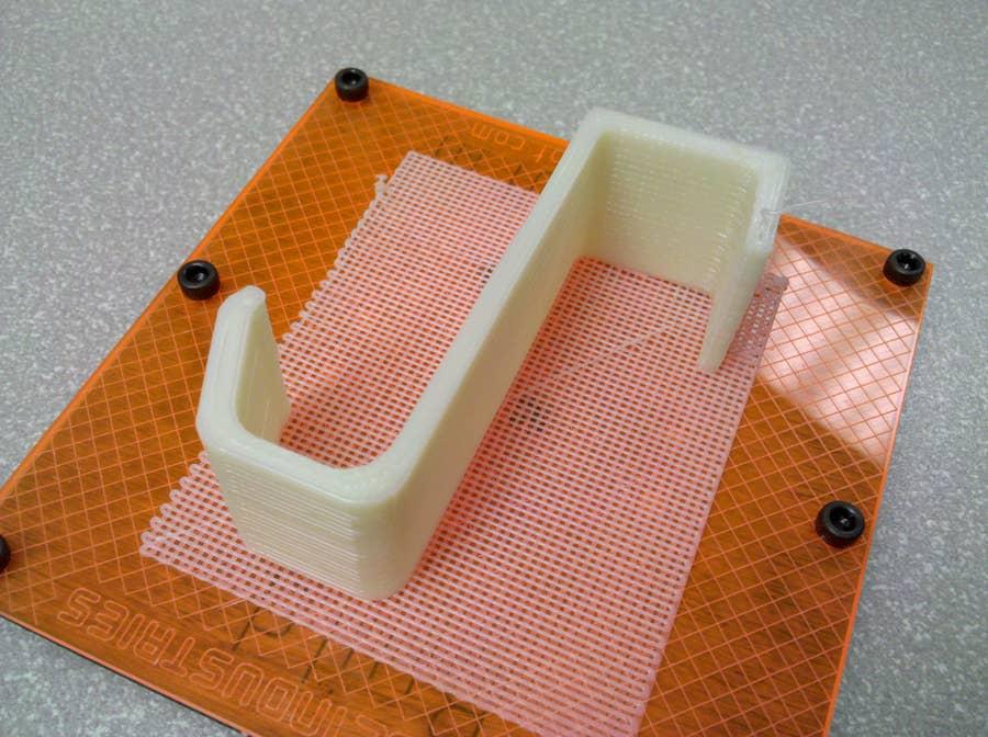 3D-printed kitchen towel hook