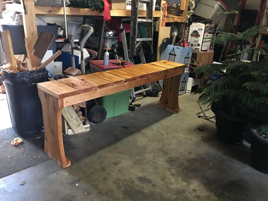 Cedar Hot Tub Table