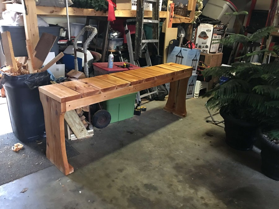 Cedar Hot Tub Table