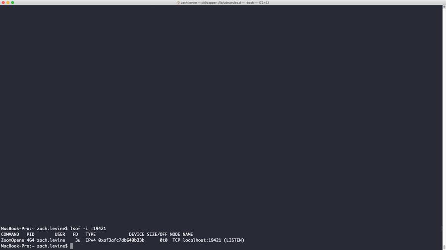 Kill Zoom process on Mac