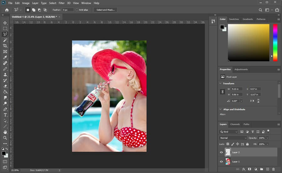 Photoshop Layer Select