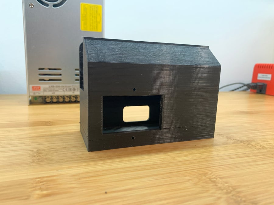 3D-printed MeanWell PSU cover