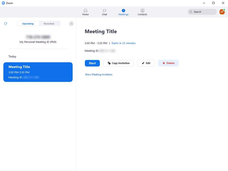 Delete Zoom Meeting