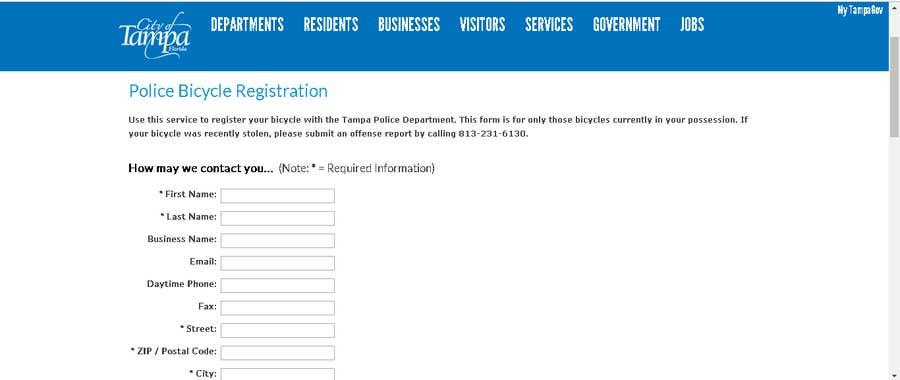 Tampa bicycle registration