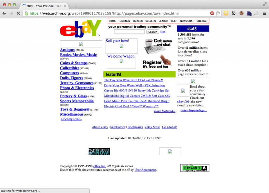 eBay in 1999