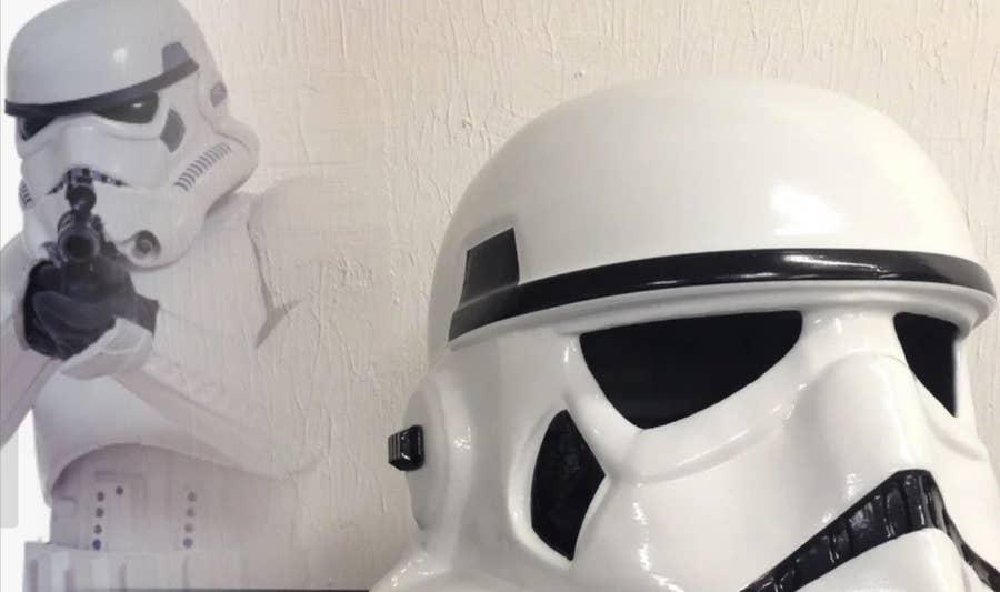 3D Printed Storm Trooper Helmet
