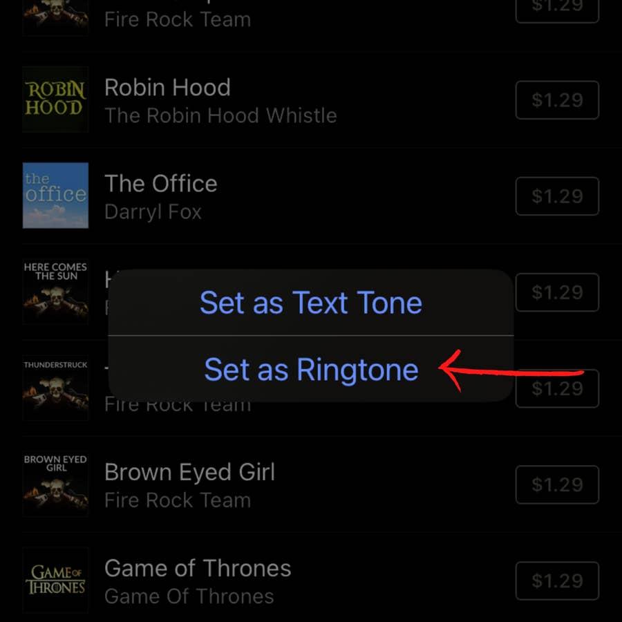 Set As Ringtone