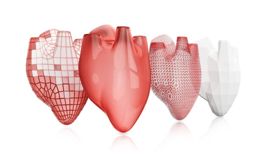 3D printed heart organ