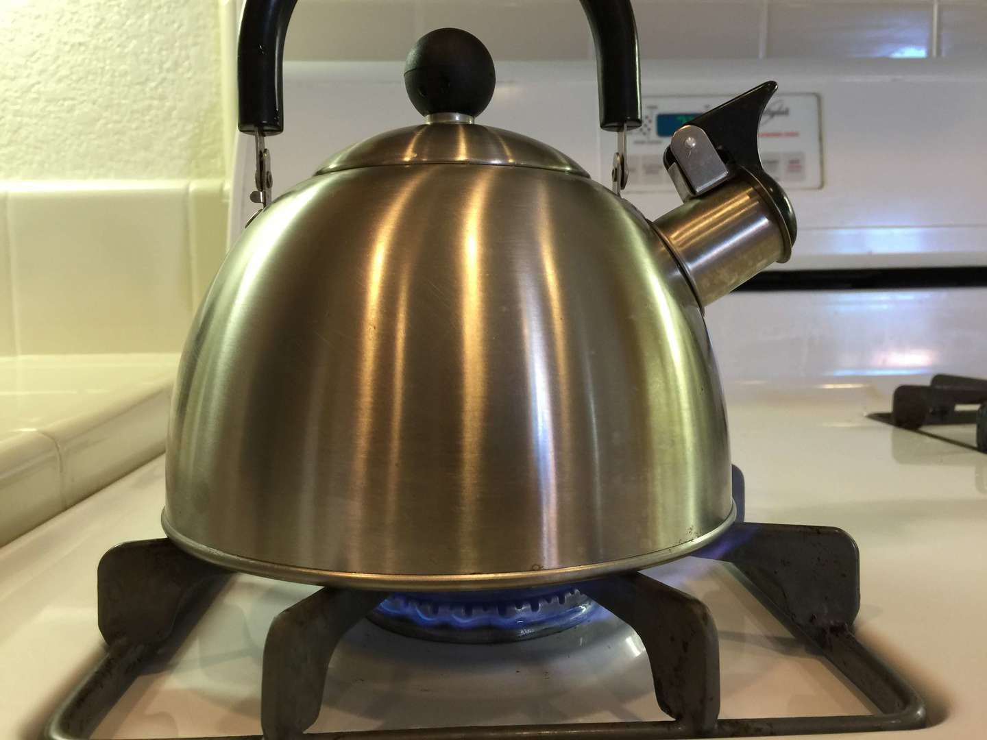 kettle on the stove