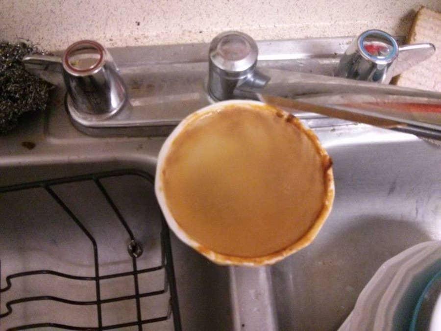 Soak any heavily dirtied dishes