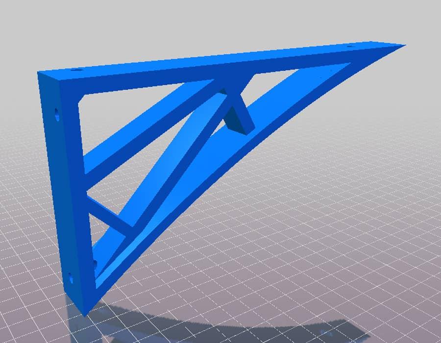 3D printed shelf bracket 8 inches