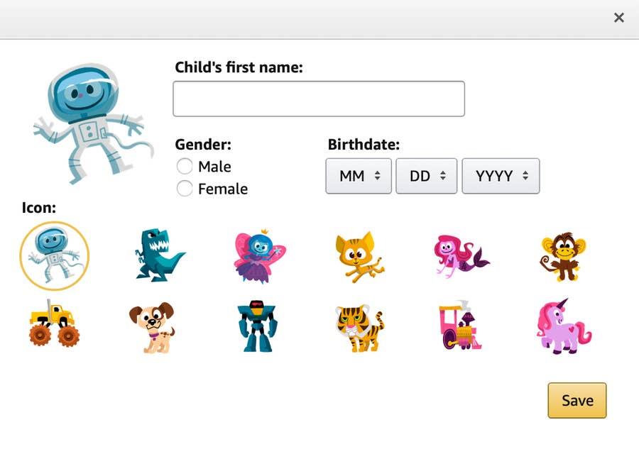 Amazon child page.