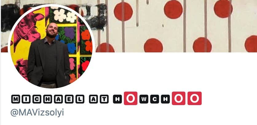 Michael at Howchoo Twitter profile with new font