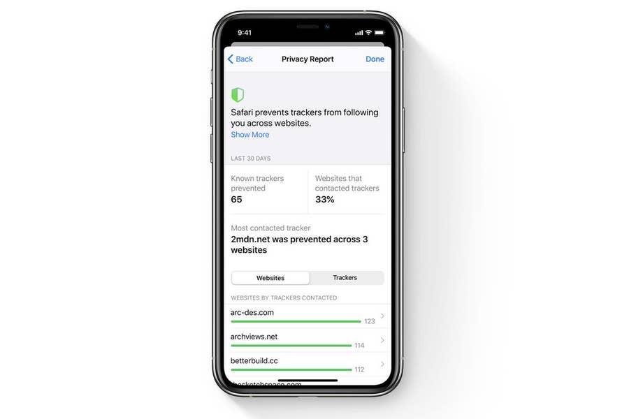 iOS 14 Privacy Report