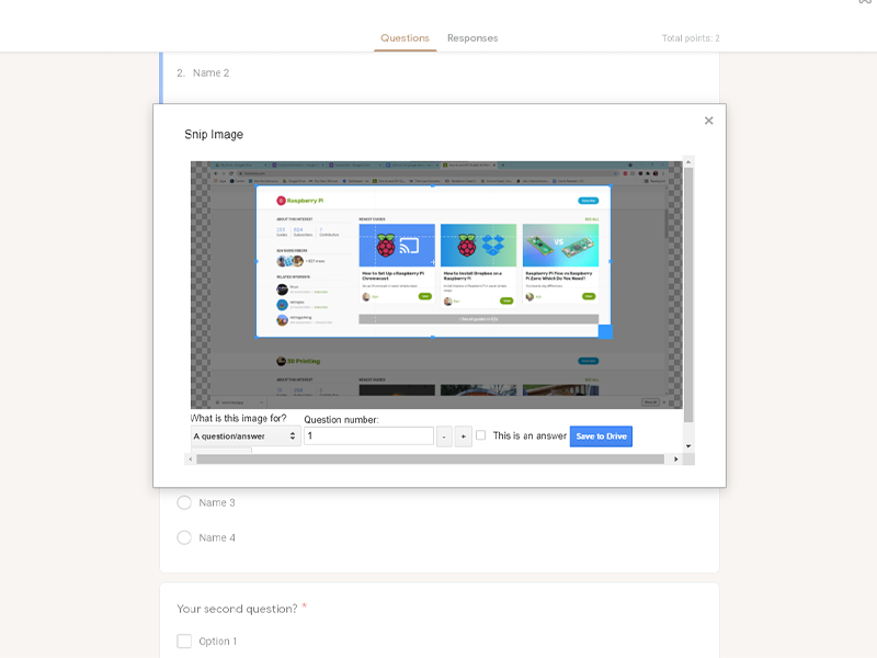 google forms addon snip