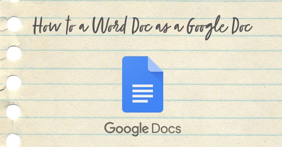 How to save a word document as a google doc