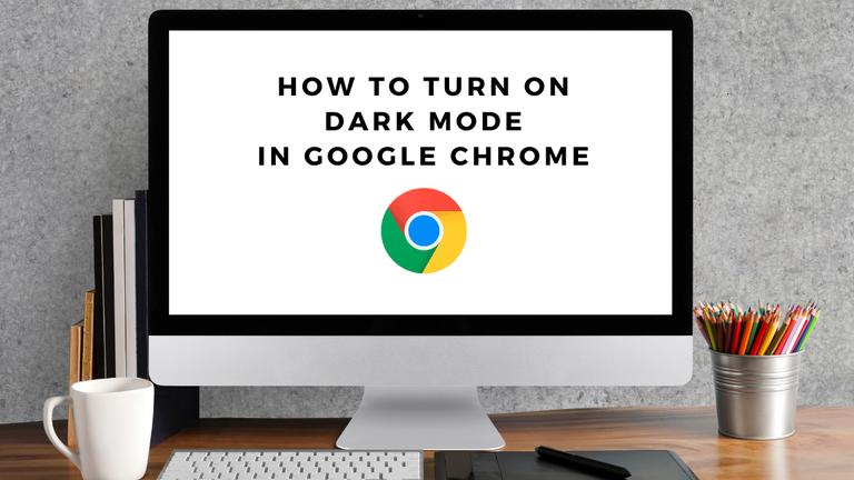 dark mode google chrome computer