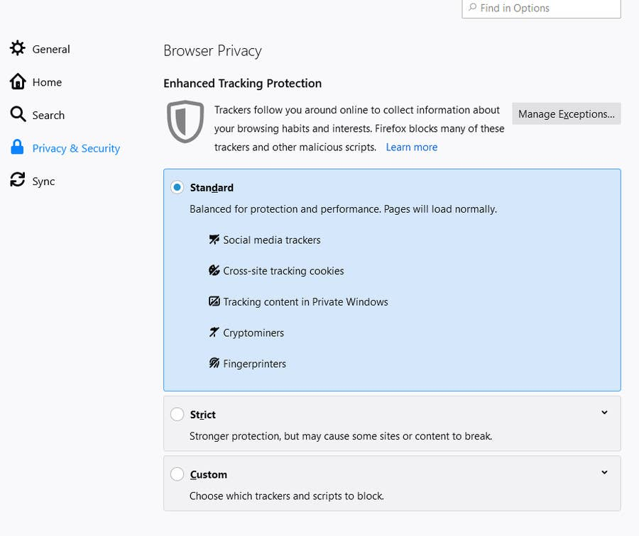 Firefox Privacy & Security
