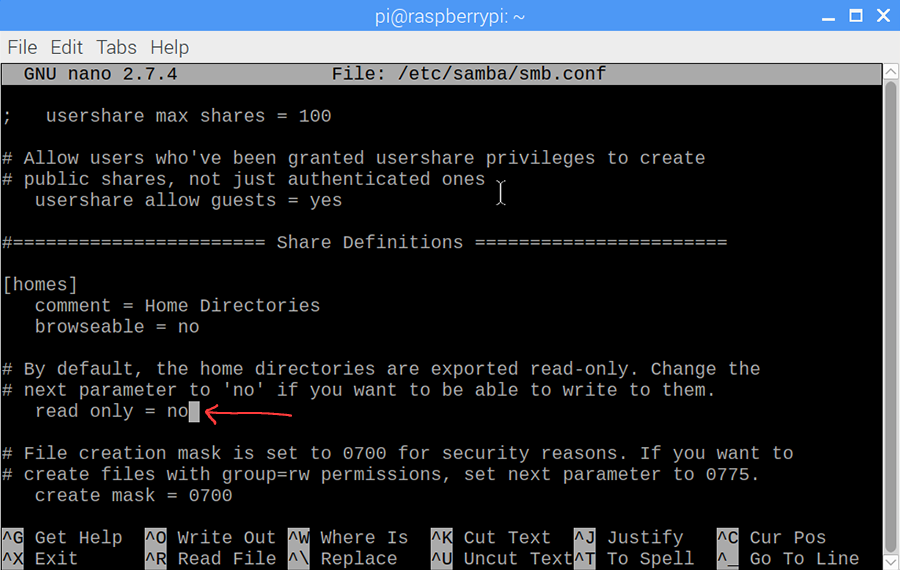Adjust private storage permissions