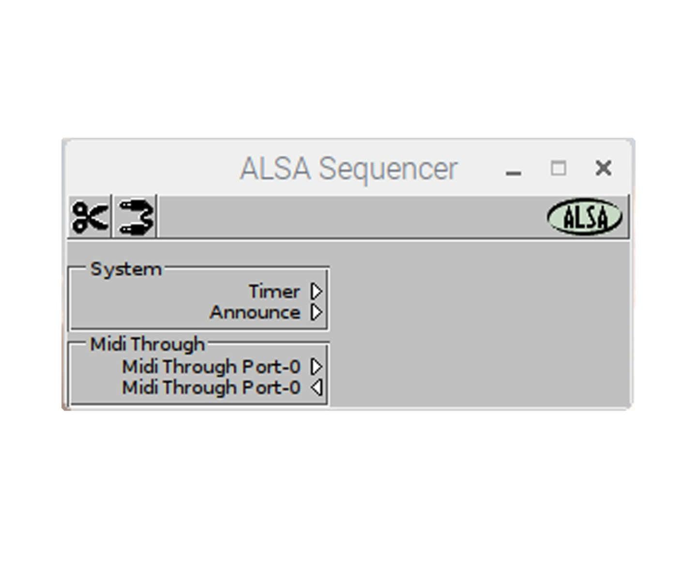 Install ALSA tools and aconnectGUI