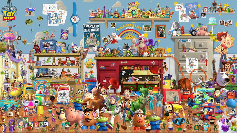 The entire Toy Story cast in one photo