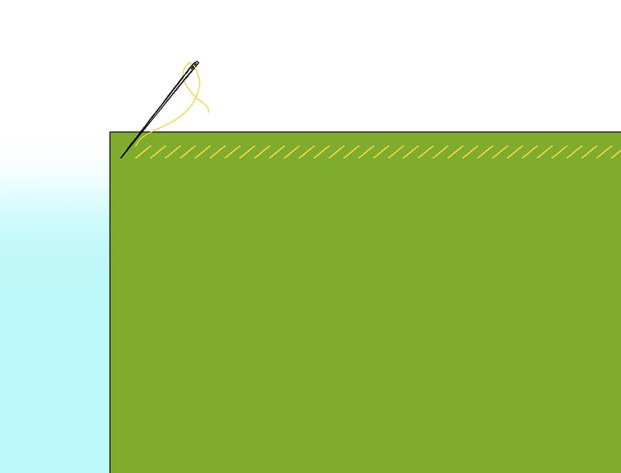 Whip Stitch Diagonal Basting