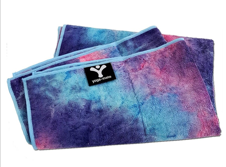 Funky yoga towel.