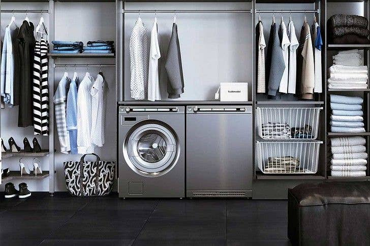 dryer next to clothes