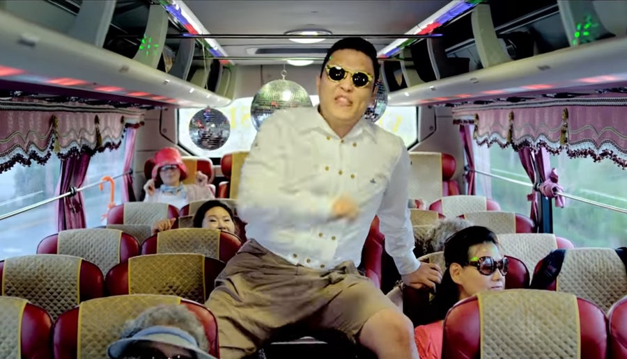 Gangnam Style video still