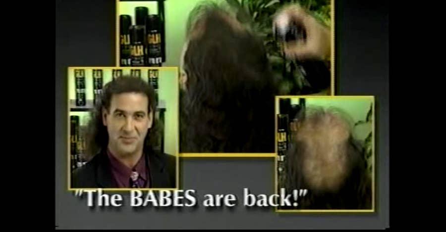 Spray-on hair infomercial
