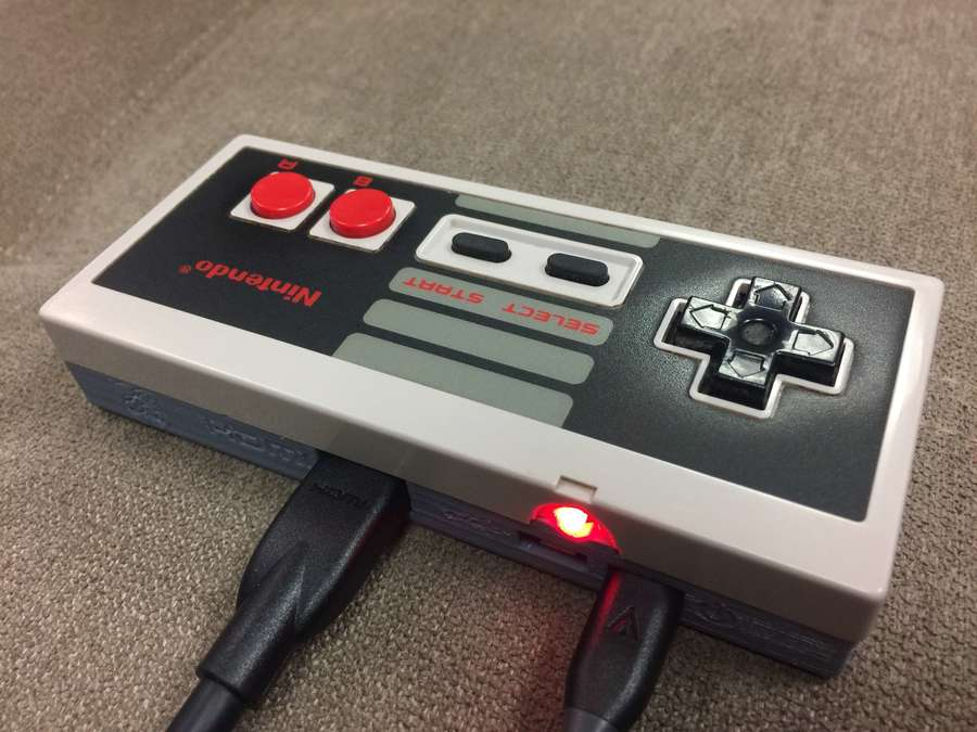 The Gamepad Zero connected to a TV