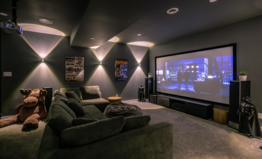comfortable home theater