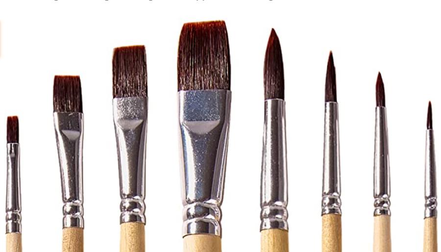 OOKU paint brush set.