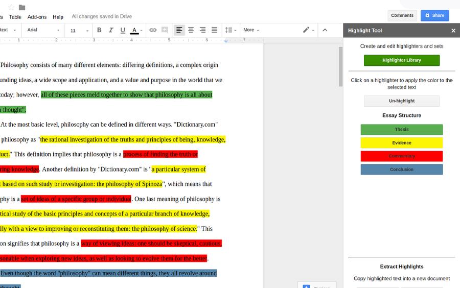 highlight tool google workspace addon