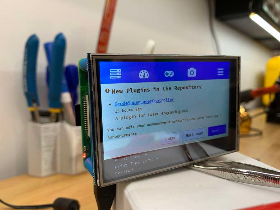 Touchscreen HAT mounted to a Raspberry Pi
