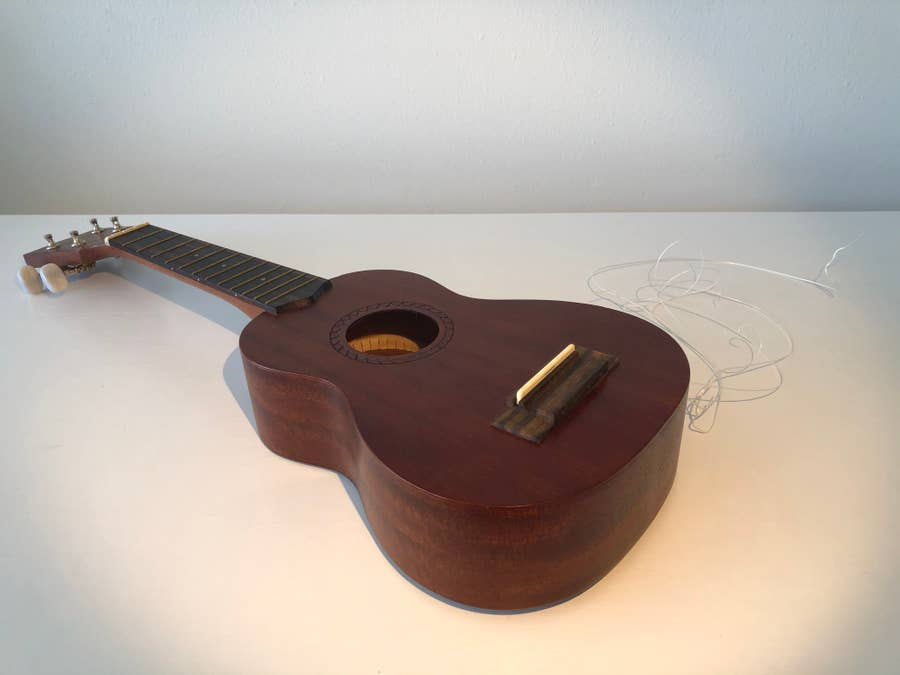A nude ukulele.