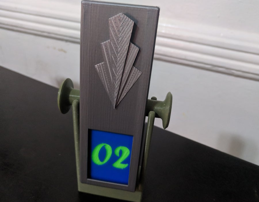 3D printed perpetual flip calendar