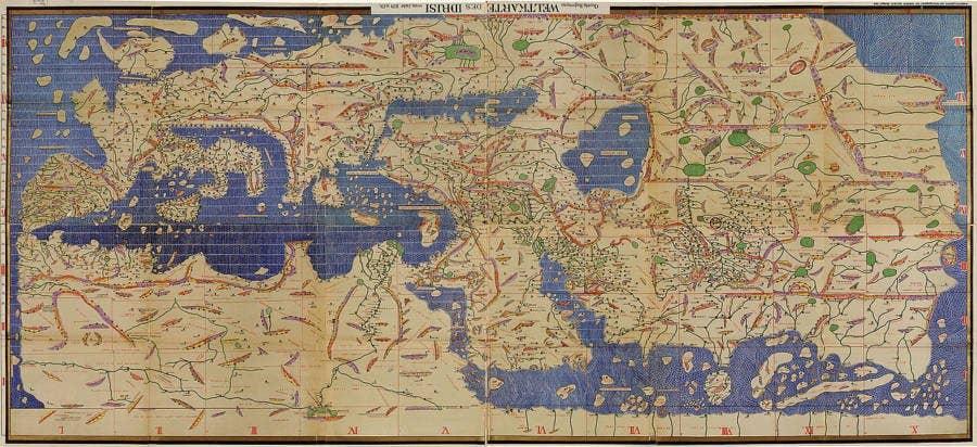 tabula rogeriana world map