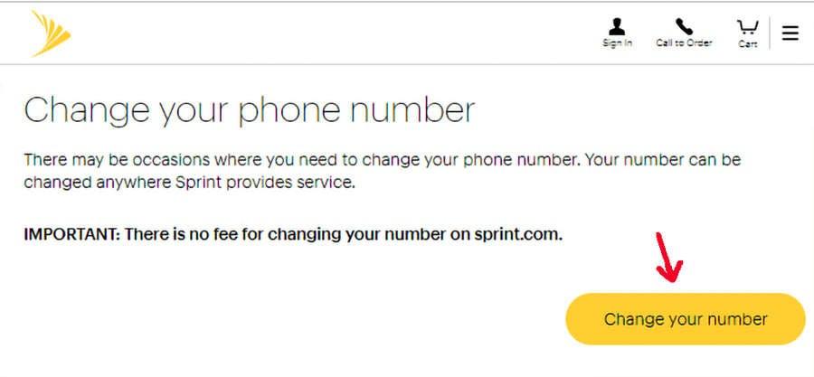 Change Sprint Phone Number