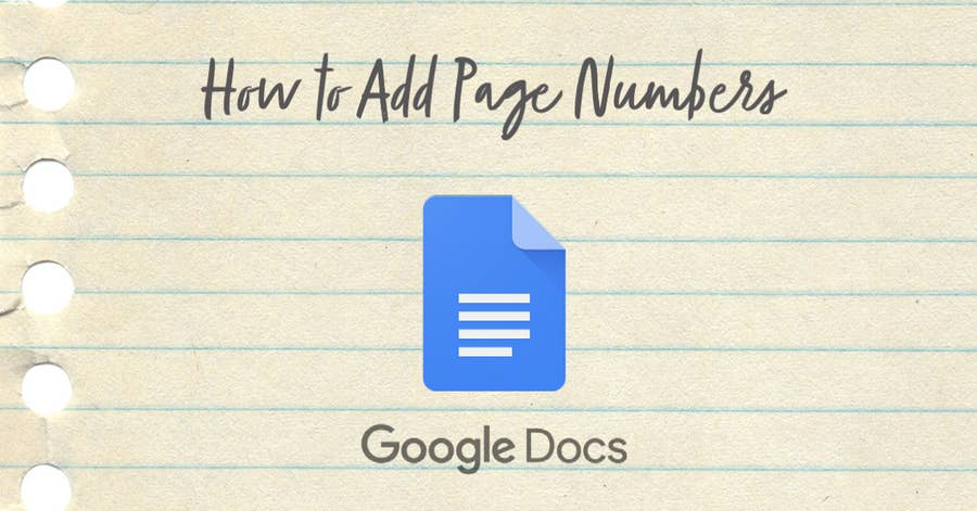How to add page numbers google docs